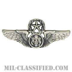 航空機搭乗員章 (下士官用マスター・エアクルー)(Air Force Enlisted Master Aircrew Badge)[カラー/燻し銀/バッジ]の画像
