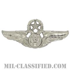 航空機搭乗員章 (下士官用マスター・エアクルー)(Air Force Enlisted Master Aircrew Badge)[カラー/鏡面仕上げ/バッジ]の画像