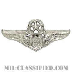 航空機搭乗員章 (将校用マスター・エアクルー)(Air Force Officer Master Aircrew Badge)[カラー/鏡面仕上げ/バッジ]の画像