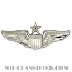 航空機操縦士章 (シニア・パイロット)(Air Force Senior Pilot Badge)[カラー/鏡面仕上げ/バッジ]の画像