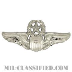 航空機操縦士章 (コマンド・パイロット)(Air Force Command Pilot Badge)[カラー/鏡面仕上げ/バッジ]の画像