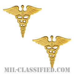 衛生科章(Medical Corps)[カラー/兵科章(将校用)/バッジ/ペア(2個1組)]の画像