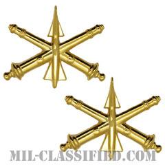防空砲兵科章(Air Defense Artillery)[カラー/兵科章(将校用)/バッジ/ペア(2個1組)]の画像