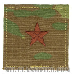 准将(Brigadier General (BG))[OCP/空軍階級章/ベルクロ付パッチ]の画像