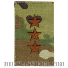 中将(Lieutenant General (LTG))[OCP/空軍階級章/ベルクロ付パッチ]の画像