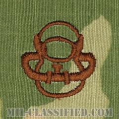 スキューバ員章(Diver Badge, Scuba)[OCP/ブラウン刺繍/パッチ]の画像
