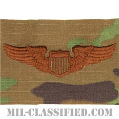 航空機操縦士章 (パイロット)(Air Force Pilot Badge)[OCP/ブラウン刺繍/パッチ]の画像
