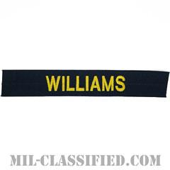 WILLIAMS [カバーオール用/ゴールド刺繍/海軍ネームテープ/生地テープパッチ]の画像