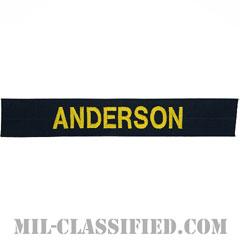 ANDERSON [カバーオール用/ゴールド刺繍/海軍ネームテープ/生地テープパッチ]の画像