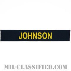 JOHNSON [カバーオール用/ゴールド刺繍/海軍ネームテープ/生地テープパッチ]の画像