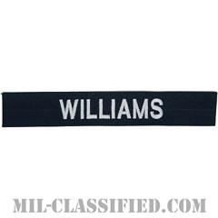 WILLIAMS [カバーオール用/シルバー刺繍/海軍ネームテープ/生地テープパッチ]の画像