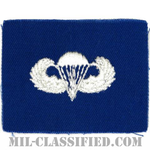空挺章 (ベーシック)(Parachutist Badge, Basic)[カラー/空軍ブルー生地/パッチ]の画像