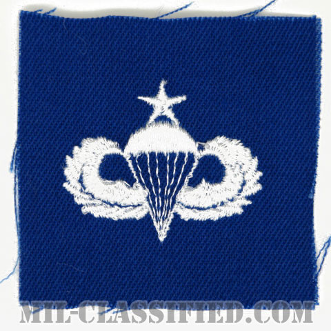 空挺章 (シニア)(Parachutist Badge, Senior)[カラー/空軍ブルー生地/パッチ]の画像