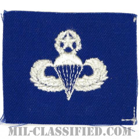 空挺章 (マスター)(Parachutist Badge, Master)[カラー/空軍ブルー生地/パッチ]の画像