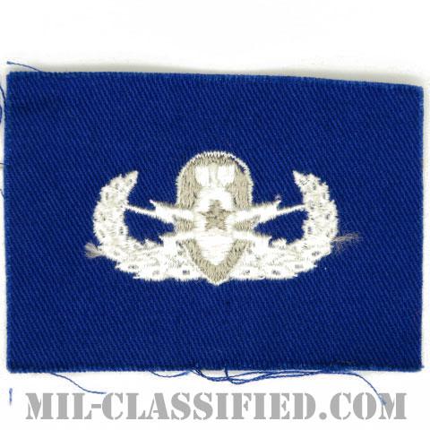 爆破物処理章 (シニア)(Explosive Ordnance Disposal (EOD), Badge, Senior)[カラー/空軍ブルー生地/パッチ]の画像