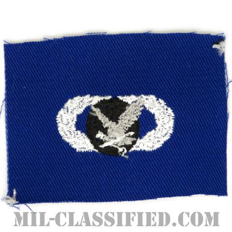 補給・燃料章 (ベーシック)(Supply and Fuels Badge, Basic)[カラー/空軍ブルー生地/パッチ]の画像