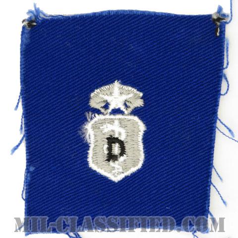 歯科章 (マスター)(Dental Corps Badge, Master)[カラー/空軍ブルー生地/パッチ]の画像
