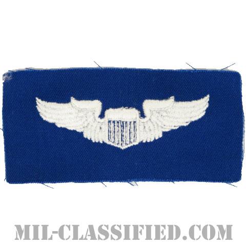 航空機操縦士章 (パイロット)(Air Force Pilot Badge)[カラー/空軍ブルー生地/パッチ]の画像