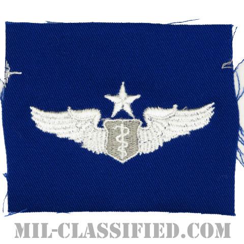 飛行医師章 (シニア)(Flight Surgeon, Senior)[カラー/空軍ブルー生地/パッチ]の画像