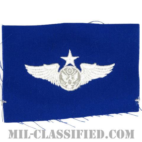 航空機搭乗員章 (下士官用シニア・エアクルー)(Air Force Enlisted Senior Aircrew Badge)[カラー/空軍ブルー生地/パッチ]の画像