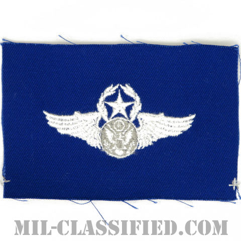 航空機搭乗員章 (下士官用マスター・エアクルー)(Air Force Enlisted Master Aircrew Badge)[カラー/空軍ブルー生地/パッチ]の画像