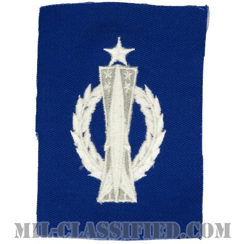 ミサイル運用章 (シニア)(Missile Operations Badge, Senior)[カラー/空軍ブルー生地/パッチ]の画像