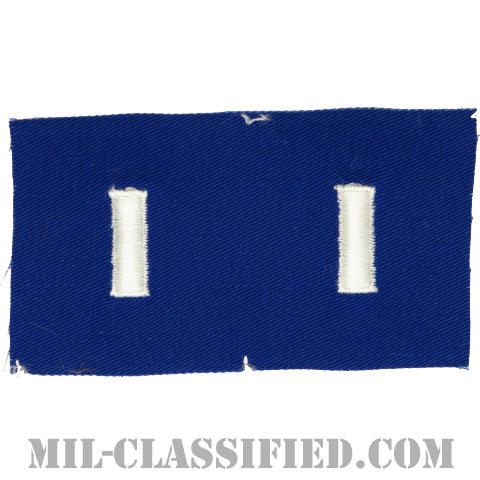 中尉(First Lieutenant (1LT))[カラー/空軍ブルー生地/階級章/ペア(2枚1組)]の画像