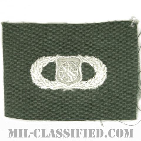兵器指揮章 (ベーシック)(Weapons Director Badge, Basic)[カラー/空軍セージグリーン生地/パッチ]の画像