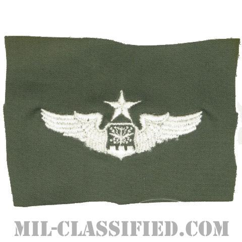 航空士章 (ナビゲーター・シニア)(Navigator/Observer Badge, Senior)[カラー/空軍セージグリーン生地/パッチ]の画像