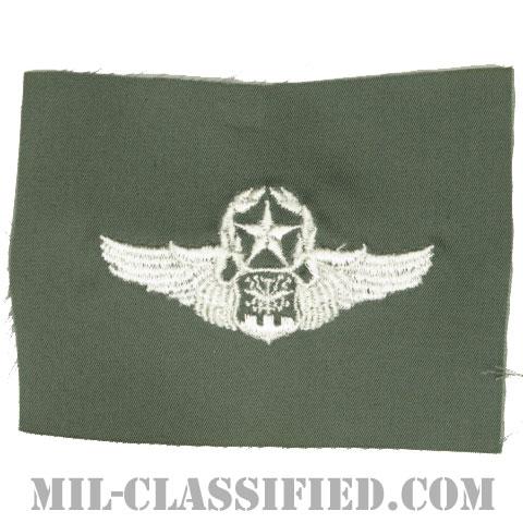 航空士章 (ナビゲーター・マスター)(Navigator/Observer Badge, Master)[カラー/空軍セージグリーン生地/パッチ]の画像