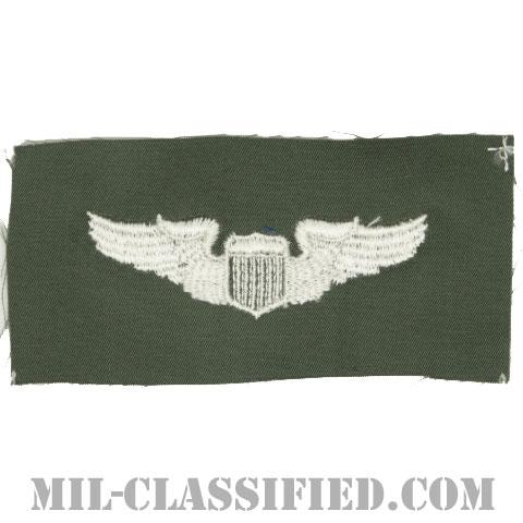 航空機操縦士章 (パイロット)(Air Force Pilot Badge)[カラー/空軍セージグリーン生地/パッチ]の画像