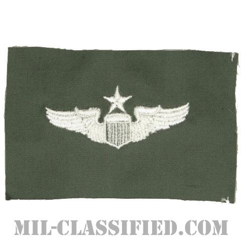 航空機操縦士章 (シニア・パイロット)(Air Force Senior Pilot Badge)[カラー/空軍セージグリーン生地/パッチ]の画像