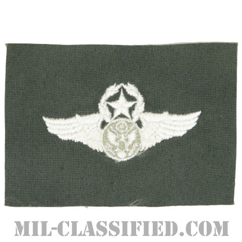 航空機搭乗員章 (下士官用マスター・エアクルー)(Aircrew Enlisted Badge, Master)[カラー/空軍セージグリーン生地/パッチ]の画像