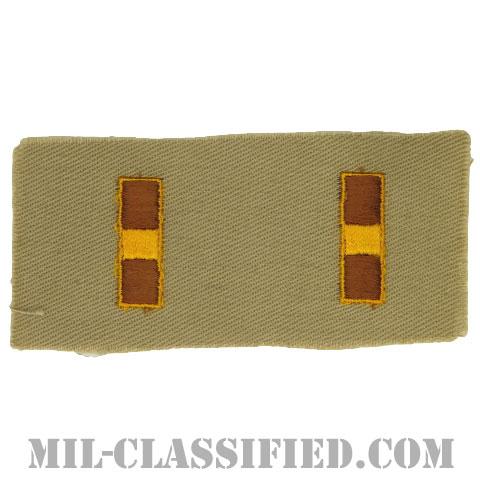 准尉(Warrant Officer 1 (WO1))[カラー/カーキ生地/階級章(1956-1972)/ペア(2枚1組)]の画像