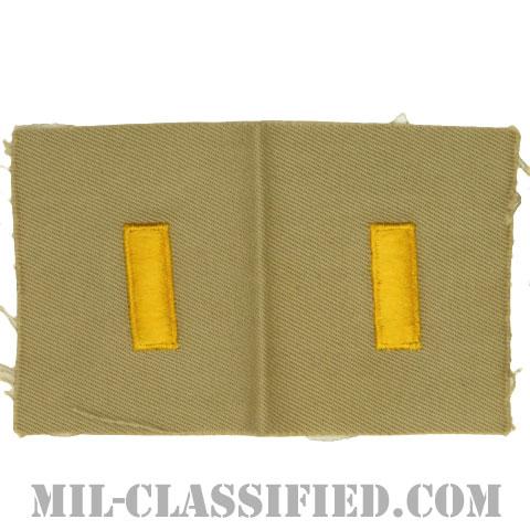 少尉(Second Lieutenant (2LT))[カラー/カーキ生地/階級章/ペア(2枚1組)]の画像