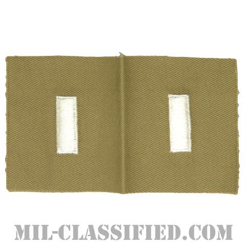 中尉(First Lieutenant (1LT))[カラー/カーキ生地/階級章/ペア(2枚1組)]の画像