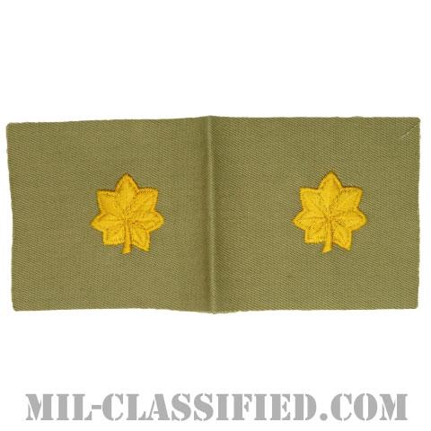 少佐(Major (MAJ))[カラー/カーキ生地/階級章/ペア(2枚1組)]の画像