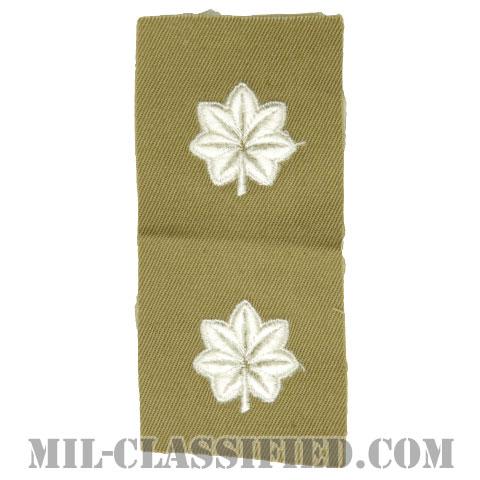中佐(Lieutenant Colonel (LTC))[カラー/カーキ生地/階級章/ペア(2枚1組)]の画像