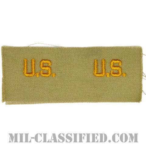 U.S.章(U.S. Letters Insignia)[カラー/カーキ生地/兵科章/ペア(2枚1組)]の画像