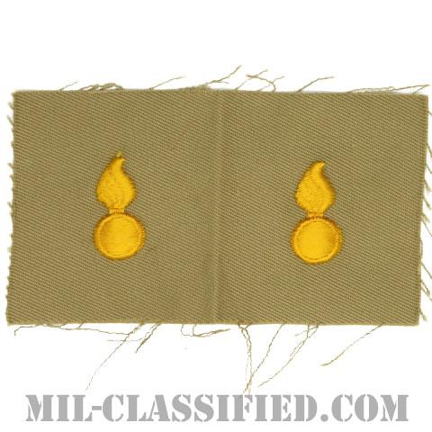 兵器科章(Ordnance Corps)[カラー/カーキ生地/兵科章/ペア(2枚1組)]の画像