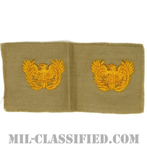 准尉章(Warrant Officers)[カラー/カーキ生地/兵科章/ペア(2枚1組)]の画像