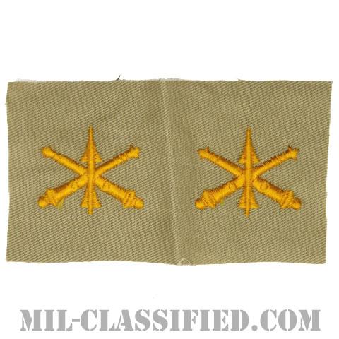 防空砲兵科章(Air Defense Artillery)[カラー/カーキ生地/兵科章/ペア(2枚1組)]の画像