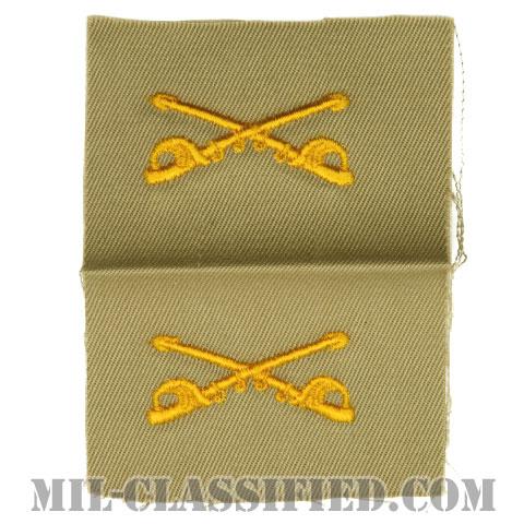 騎兵科章(Cavalry Branch Insignia)[カラー/カーキ生地/兵科章/ペア(2枚1組)]の画像