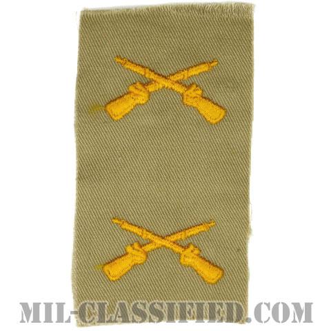 歩兵科章(Infantry Branch Insignia)[カラー/カーキ生地/兵科章/ペア(2枚1組)]の画像
