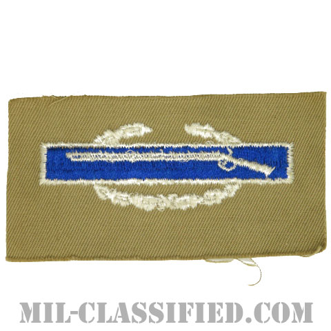 戦闘歩兵章 (ファースト)(Combat Infantryman Badge (CIB), First Award)[カラー/カーキ生地/パッチ]の画像