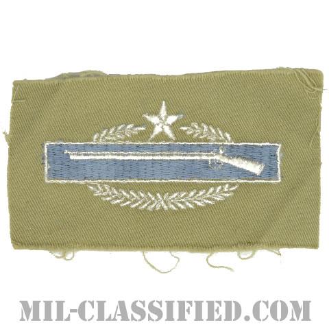 戦闘歩兵章 (セカンド)(Combat Infantryman Badge (CIB), Second Award)[カラー/カーキ生地/パッチ]の画像