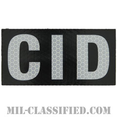 CID(陸軍犯罪捜査司令部)(Criminal Investigation Command)[IR(赤外線)反射素材/4インチ幅/ベルクロ付パッチ]の画像