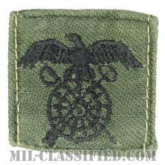 需品科章(Quartermaster Corps)[サブデュード/兵科章/1960s/コットン100%/パッチ/中古1点物]の画像