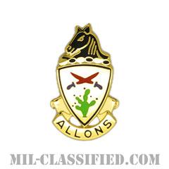 第11機甲騎兵連隊(11th Armored Cavalry Regiment)[カラー/クレスト(Crest・DUI・DI)バッジ]の画像