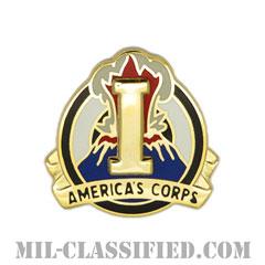 第1軍団(1st Corps)[カラー/クレスト(Crest・DUI・DI)バッジ]の画像